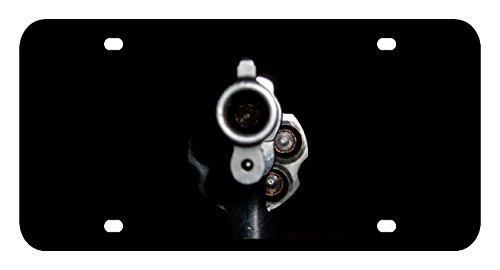 L233 PISTOL GUN License Plate Front Custom Novelty Tag Vanity Frame Holder Wrap Wraps (Picture Gun Frame Holder)
