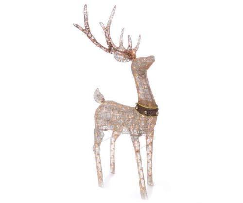 Outdoor Lighted Deer Sculpture in US - 3
