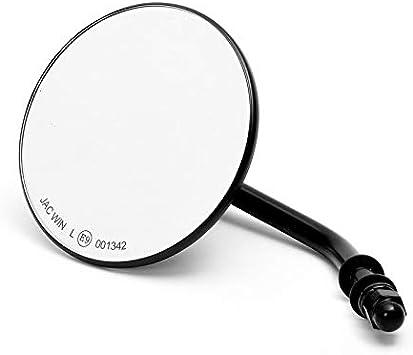 ca. 10 cm destra o sinistra 4 pollici Custom Specchio rotondo cromato con omologazione E per Harley-Davidson/® moto