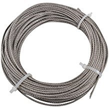 Wire Rope, Vinyl Coated Aircraft Cable, 250-Feet-by-1/8-Inch thru 3/16-Inch