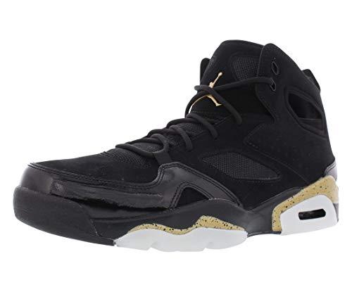Jordan Mens FLTCLB 91 Black Metallic Gold White Size 9]()