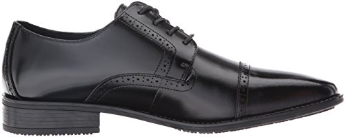 Stacy Adams Mens Abbott Antiscivolo Cap Toe Oxford Nero