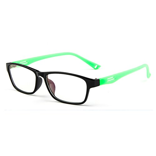 Police Force Mirrored Sunglasses (LOMOL Fashion Student Sport Style Transparent Lens Myopia Frame Glasses For Men&Women(C8))