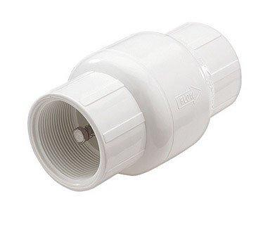 - King Brothers Inc. KC-1000-T 1-Inch Threaded PVC Schedule 40 Spring Check Valve, Gray
