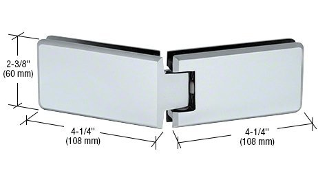 Satin Chrome 135 Glass - CRL Grande 135 Series Satin Chrome 135° Glass-to-Glass Hinge