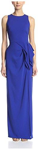 Marchesa Notte Women's Sleeveless Gown, Cobalt, 6
