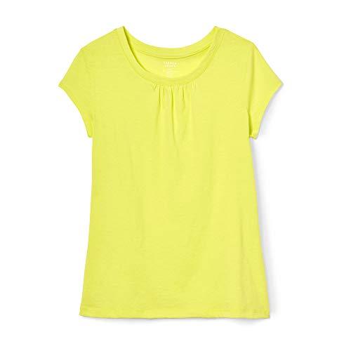 French Toast Girls' Big' Short Sleeve Crewneck T-Shirt Tee, Lemon Fool, XL (14/16)