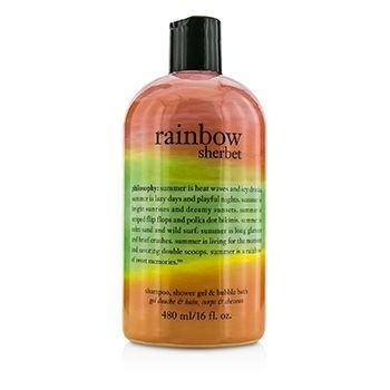 Philosophy Rainbow Sherbet Shampoo Shower Gel Bubble Bath 16 Fl