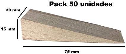 cuñas de madera maciza de haya 50 unidades