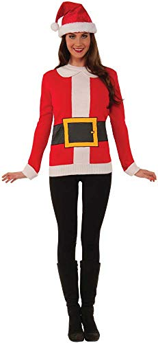 Forum Men's Santa Ugly Christmas Sweater, Multi, Medium