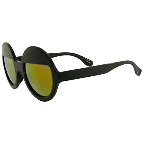 Designer Celebrity Inspired Round Sunglasses with Hot Mirrored Split Revo - Sunglasses Celebrity Hot