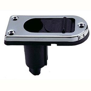 Perko Spare Plug In Base W/ Slide Cover 2 Pin Chrome Plate (33105)