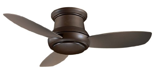 Minka Group Company F518-ORB Flush Mount, 3 Silver / Pewter Blades Ceiling fan with 100 watts light, Oil-rubbed Bronze