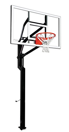 Goalsetter All-American In Ground Adjustable Basketball System with 60-Inch Glass Backboard and Flex Rim