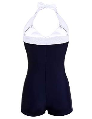 93835aab66b2f Ekouaer Womens Retro Sailor Pin Up One-piece Bikini Swimsuit Vintage High  Waist Monokinis Bathing. $19.99