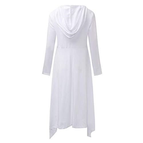 Moda Delgada Manga con de Otoño Larga Capucha Larga Mujer Sonnena Suéter Mujer Blanco Camiseta Urbano Manga para para Tops Suelta Mujer de de Sudadera Manga Vestido Larga Blusa Fashion nHwH1qIYv