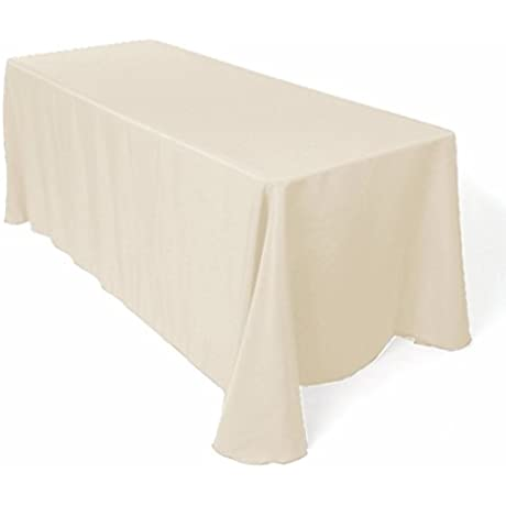Gee Di Moda Rectangle Tablecloth 90 X 156 Inch Beige Rectangular Table Cloth For 8 Foot Table In Washable Polyester Great For Buffet Table Parties Holiday Dinner Wedding More
