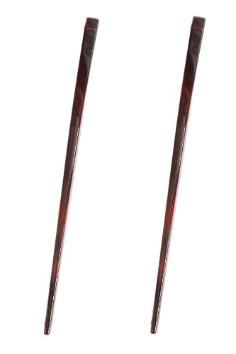 - Caravan French Tortoise Shell Chop Stick as A Stick In Flight Shape Pair.65 Ounce