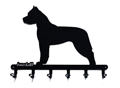 steelprint.de Key Holder - American Staffordshire Terrier - Beautiful Key Hook for Wall - 6 Hooks