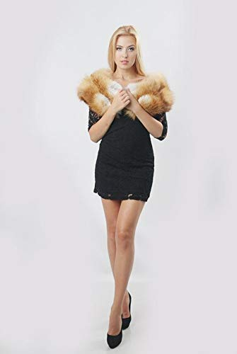 Amazon Real Fur Fox Womens Collar For Winter Coat Scarf Handmade