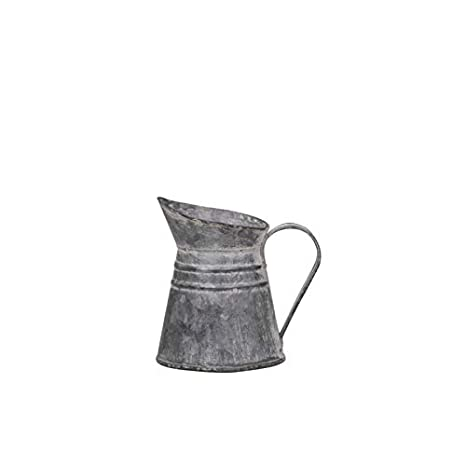 Chic Antique Krug Kanne Vase Gie/ßkanne Metall Zink Nostalgie franz/ösicher Landhaus Stil