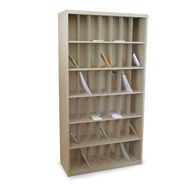 Mailroom Vertical Sorter with 42 Pockets Finish: Putty