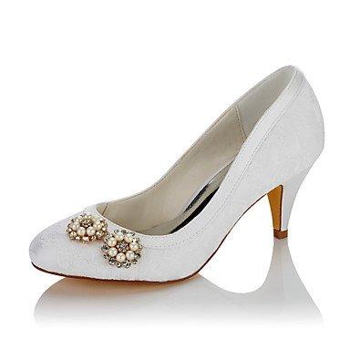 RTRY Las Mujeres'S Wedding Shoes Confort Satin Otoño Invierno Boda Vestido De Noche &Amp; Comodidad Imitación Perla Blanca Talón Cono 2A-2 3/4 Pulg Nosotros6.5-7 Blanco / Ue37 / Uk4 5-5 / Cn37 US5 / EU35 / UK3 / CN34