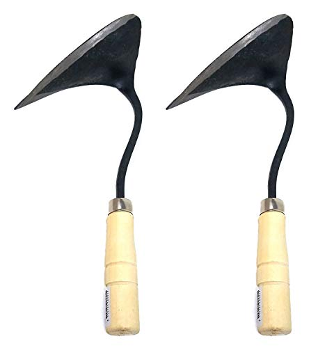 SERENITA Hand Gardening Hoe, Korean plow Easy Digger with Blade, Less Effort Easy Farming Tool 2pcs (Easy Plow)