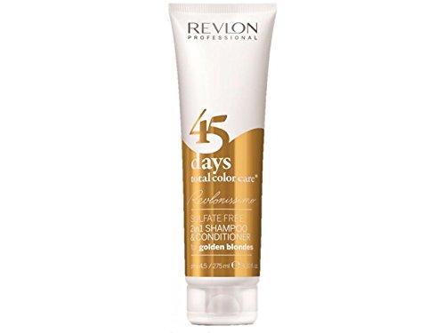 Revlon Professional Revlonissimo 45 Days Golden Blondes 2 in 1 Shampoo & Conditioner, 1er Pack (1 x 275 ml) 7220452000