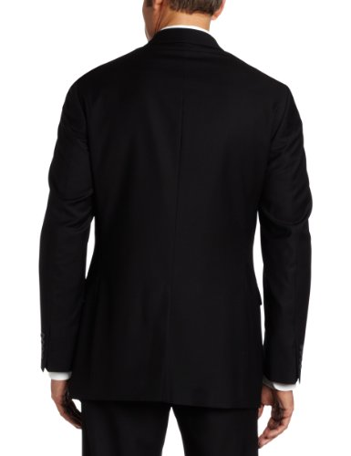 Geoffrey Beene Mens Black Solid Suit Separate Coat, Black, 40 Long by Geoffrey Beene (Image #4)
