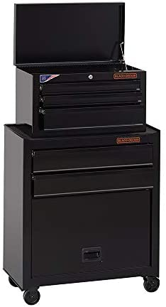 past by means of BLACK+DECKER Tool Chest / Tool Cabinet, 26-Inch, Steel, 5-Drawers, Ball-Bearing (BDST98376BKAEV)