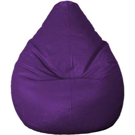 Madaar Homez Artificial Leather Teardrop Purple Bean Bag Cover  Large