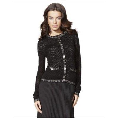 (Missoni for Target Textured Sweater Cardigan Jacket Famiglia Black White XS)