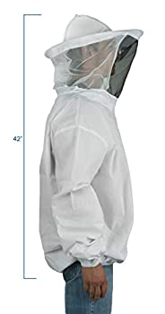 Vivo New Professional White Mediumlarge Beekeepingbee Keeping Suit, Jacket, Pull Over, Smock With A Veil By (Bee-v105) 1