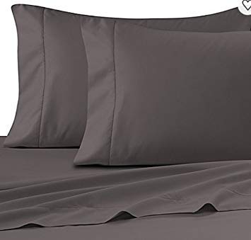 Wamsutta Ultra Soft Sateen 525 Thread Count Twin Flat Sheet (Grey)