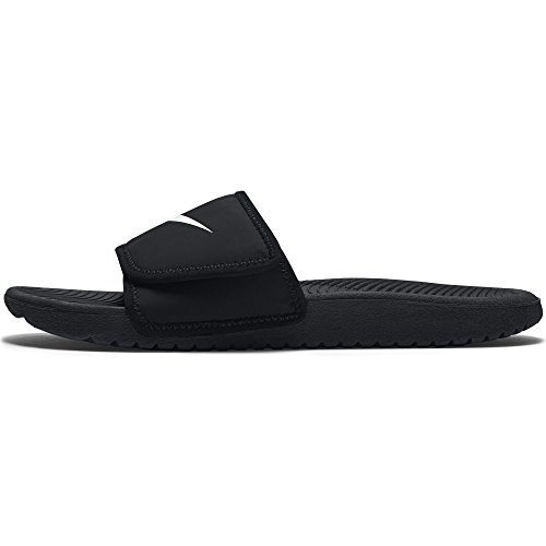 bf9480a297df1c Galleon - NIKE Boy s Kawa Adjust Slide Sandal (GS PS) Black White Size 13  Kids US