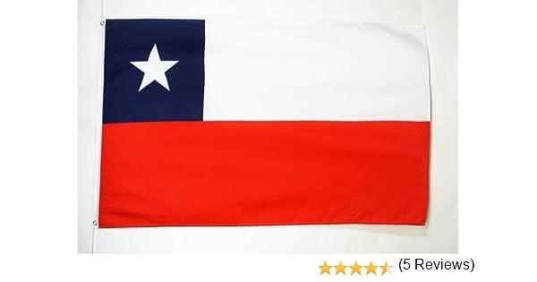 AZ FLAG Bandera de Chile 90x60cm - Bandera CHILENA 60 x 90 cm: Amazon.es: Jardín