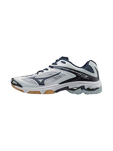 Mizuno Women's Wave Lighting Z3 Volleyball Shoe,White/Navy,8.5 B US