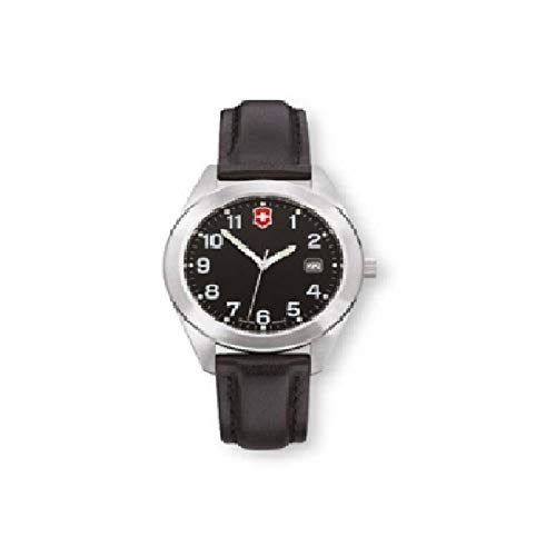 Victorinox Garrison Black Dial Leather Strap Ladies Watch 26035CB