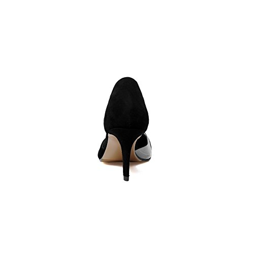 BalaMasa Ladies Pointed-Toe Spikes Stilettos Low-Cut Uppers Down Pumps Shoes Black jZpZuDYT
