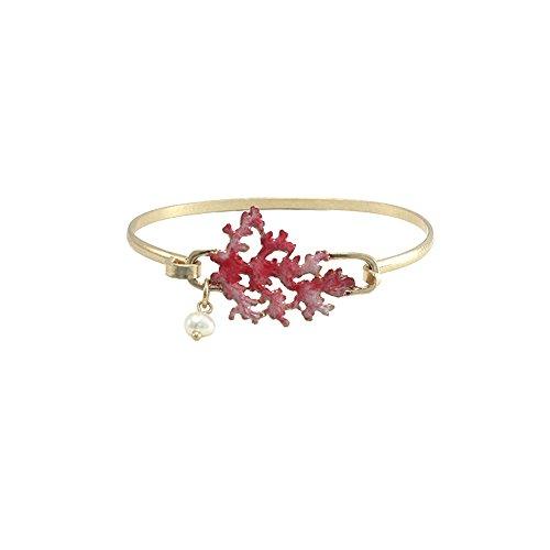 Reef Coral Bracelet - Wonderent Pink Sea Coral Reef Fashion Bangle Bracelet