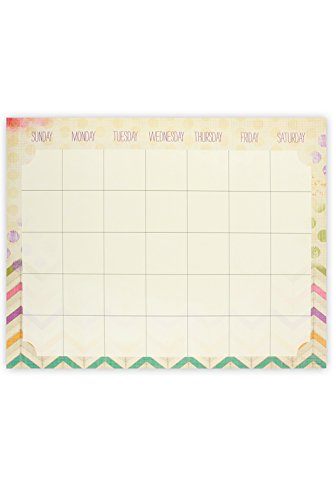 Renewing Minds Retro Chic Customizable Classroom Calendar Chart, 22 x 28 inches, Multi-Colored (Retro-chic)