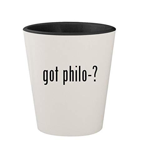 Byblos Glasses - got philo-? - Ceramic White Outer & Black Inner 1.5oz Shot Glass