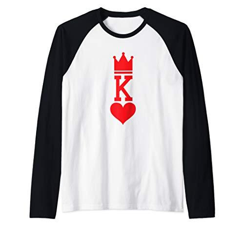 King of Hearts Playing Card Halloween Costume  Raglan Baseball Tee ()