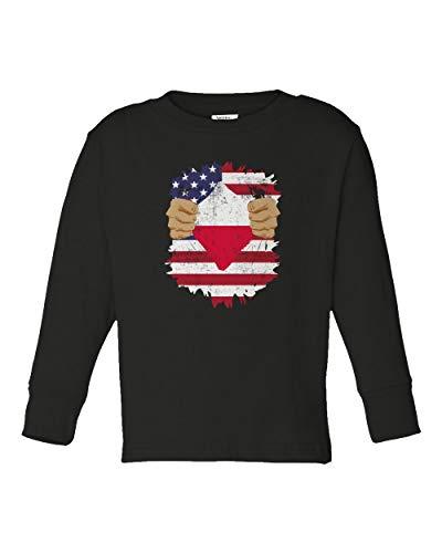 Societee Polish American USA Poland Pride Flag Youth & Toddler Long Sleeve Tee Shirt (Pride Long Sleeve Tee)