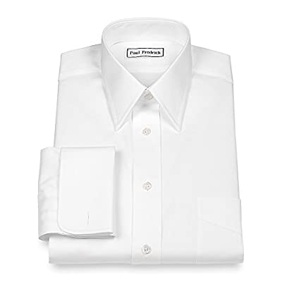 Cheap Paul Fredrick Men's Pinpoint Straight Collar French Cuff Dress Shirt for cheap