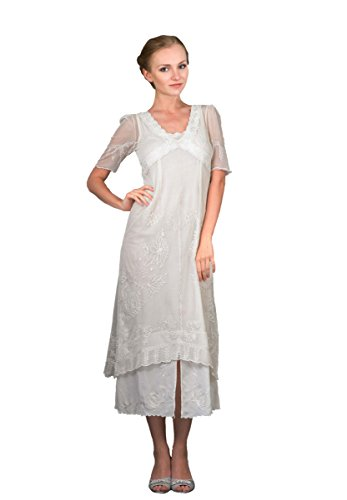 Nataya 40007 Women's Titanic Vintage Style Wedding Dress in Ivory (Large) by Nataya