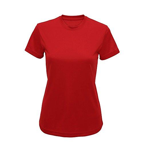 Tri Dri - Camiseta de manga corta modelo Performance para mujer (Mediana (M)/Verde)
