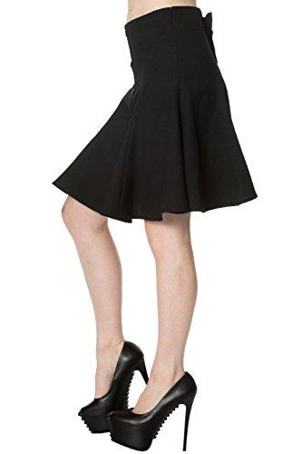 Banned Bow Jupe Taille Haute Plissée (Black)