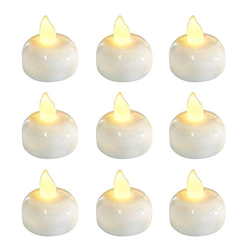 Pack of 24 Floating Led Candles, Flickering Waterproof Tea Lights, Battery Operated Tealights, Pool, Wedding, Party, Warm White